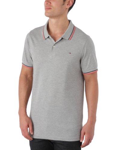 Hilfiger Denim Paddy Short Sleeve  Men's Polo Shirt Light Grey Heather Medium
