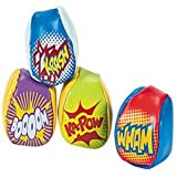 Pack of 3 - Superhero Saying Kick / Juggling Balls - Great for X-Men,Spiderman,Marvel Super Heroes Party Loot Bags