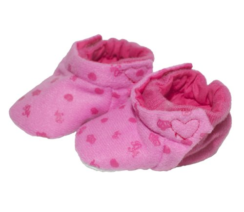 BUYS BY BELLA's Dark Pink Soft Baby Shoes for 18 Inch Dolls Like American Girl