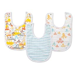 zutano for aden by aden + anais Little Bib  Sunday Drive, 3-Count