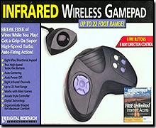 Infrared Wireless 6-Button Gamepad (no returns!)