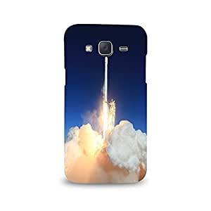 Mikzy Rocket Launching Printed Designer Back Cover Case for Samsung J5