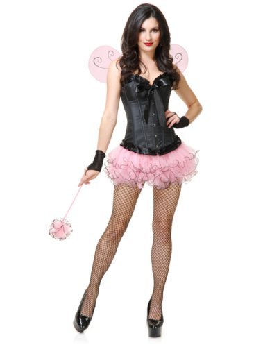 Womens Small-Medium Pink Insect Cute Tutu and Wings Costume Set