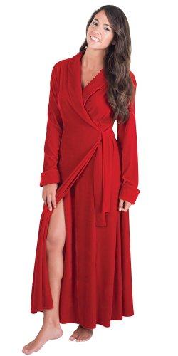 Full Length Red Ruby Velour Robe for Women Apparel ...