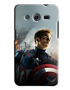 Blue Throat Star Man Printed Designer Back Cover/Case For Samsung Galaxy Core 2