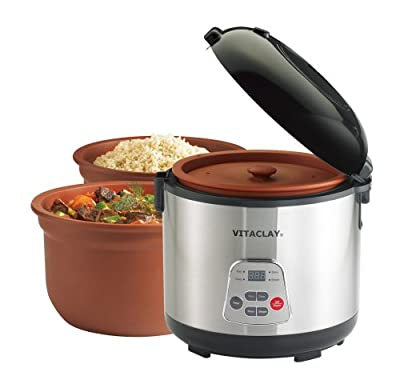 VitaClay 2-in-1 Rice N' Slow Cookers by Vitaclay