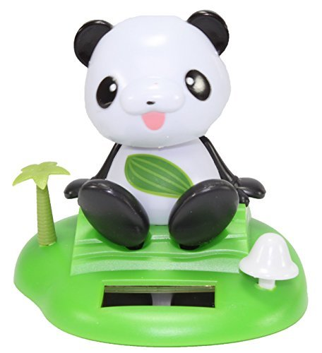 A Dancing Panda On Tropical Island Solar Toy Car Dashboard Desk Home Decor Birthday Holiday Valentine's Day Gift US Seller