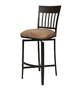 "Pastel Furniture Aspen 26"" Barstool in Topanga Brown"