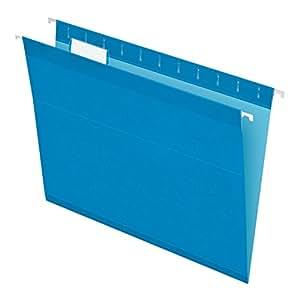 Pendaflex Reinforced Hanging Folders, Letter Size, Blue, 25 per Box (4152 1/5 BLU)