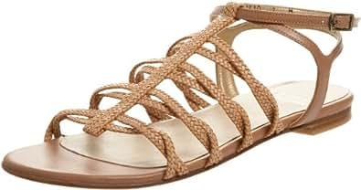 Stuart Weitzman Women's Figure Ankle-Strap Sandal,Camel Laniard,6 M US