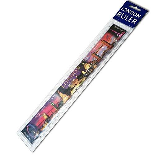 """Bestseller#1, motivo: attrazioni famose di Londra Souvenir 30,48 cm (12"""") %2F, Righello 30 cm, Regle %2F Gobernante %2F Herrscher %2F Righello, alta qualità, con foto di case di Londra del Parlamento %2F %2F Big Ben %2F %2F Torre di Londra della Cattedrale di St Paul's %2F Tower Bridge %2F Trafalgar Square-Prodotto di alta qualità"""