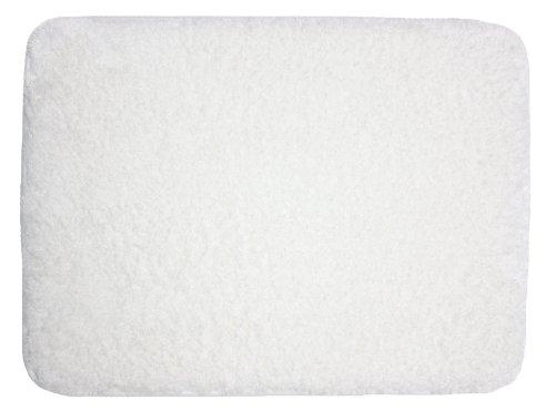 J & M Home Fashions Plush Memory Foam Bath Mat, 17 By 24-Inch, White