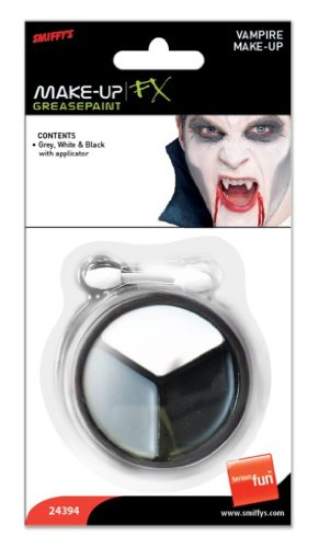 Vampire Make Up Grey, White And Black
