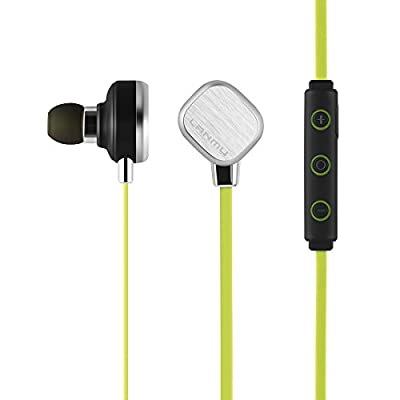 LANMU Wireless Stereo Bluetooth 4.1 Sports Headset Earphone In-Ear Earbuds.