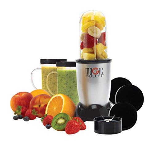 Magic Bullet (Silver) Blender/Mixer, 11-piece Set (Certified Refurbished) (Refurbished Small Appliances compare prices)