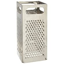 "Adcraft BXGR-4 4"" Width x 9"" Height, Stainless Steel Square Box Style Grater"