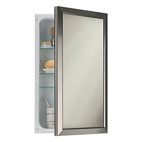 Broan-NuTone 625N244SNC Hampton Recessed and Framed Medicine Cabinet, Satin Nickel (14 X 24 Medicine Cabinet compare prices)