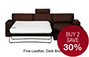 Finn Corner Sofa Bed (Right Hand) - Leather