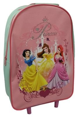 Disney Princess (heart Of A) Wheeled Bag, Zipped, Picture Of 3 Princess's, Pink/blue from Trade Mark Collections