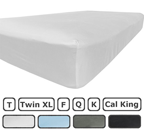 King Size Fitted Sheet Only - 300 Thread Count 100% Egyptian Cotton - Flat Sheets Sold Separately for Set - 100% Satisfaction Guarantee (White) (Fitted Bed Sheet King compare prices)