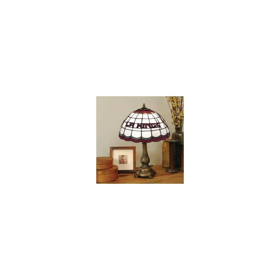 LOS ANGELES KINGS LOGOED 20 IN TIFFANY STYLE TABLE LAMP