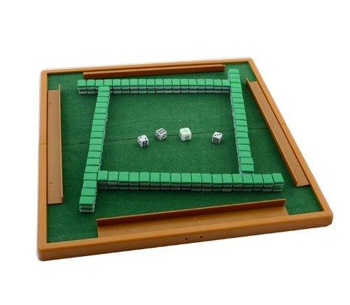 Folding mahjong table with mini mahjong full set anywhere (japan import)