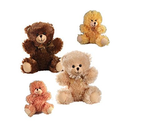 "Teddy Bears Stuffed Animals Fuzzy Friends Plush 8"" Sitting Bears Make Great Birthday Gift - 1"