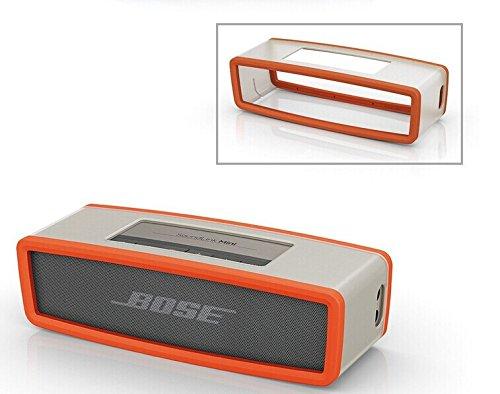 Tpu Gel Soft Case Cover Pouch Box Compatible For Bose Soundlink Mini Bluetooth Speaker Color Orange Transparent