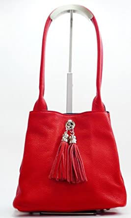 Reversible Leather And Suede Shoulder Bag 98