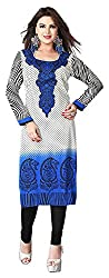 SANVARI FASHION Women's Crepe Straight Kurta (Event112-B, Multi-Coloured, M)