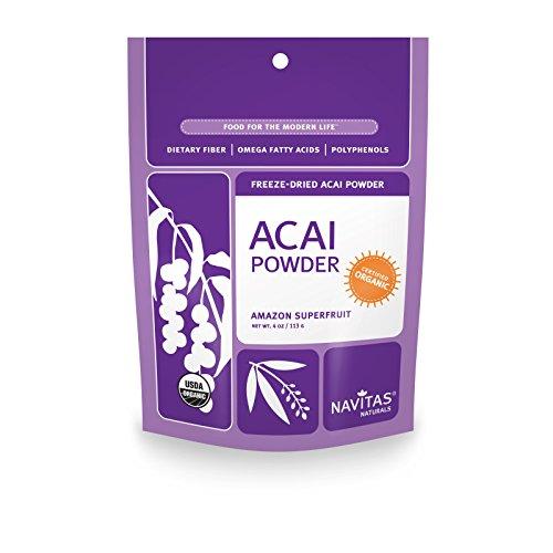 Navitas Naturals Organic Acai Powder, 4-Ounce Pouches
