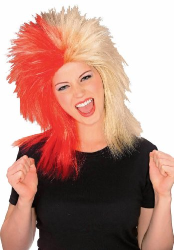 Rubie's Costume Red and Tan Sports Fan Wig