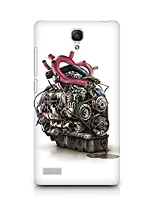 Amez designer printed 3d premium high quality back case cover for Xiaomi Redmi Note (Abstract 18)