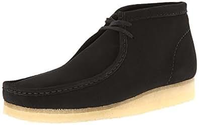 Clarks Originals Men's Wallabee Boot, Black Suede, 6 M