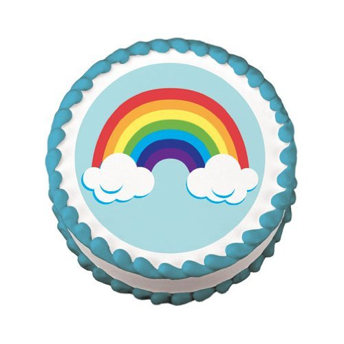 Edible Rainbow Cake Decal (1 pc) [Misc.]