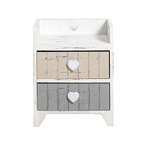 Best Price Rebecca Srl Bedside Table Cupboard 2 Drawers