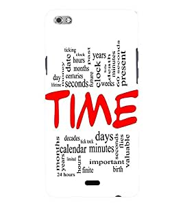 Fuson 3D Printed Time Wallpaper Designer Back Case Cover for Micromax Canvas Sliver 5 Q450 - D853