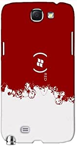 Attractive 3D multicolor printed protective REBEL mobile back cover for Samsung Note-2 - D.No-HSI-3311-n2