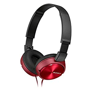 Sony MDRZX310 Foldable Headphones - Metallic Red