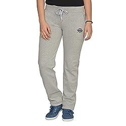 Ladies Cotton Lycra Grey Track Pants