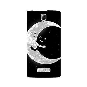 Mobicture Moon Premium Designer Mobile Back Case Cover For Lenovo A2010