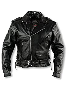 Interstate Leather Men's Classic Riding Jacket (Size 42)