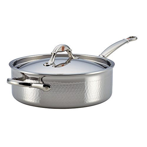 Ruffoni Symphonia Prima 5-Quart Covered Saute with Helper Handle - Stainless Steel