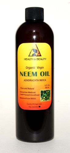 Neem Oil Virgin Organic Carrier Unrefined Cold Pressed 36 Oz front-848674