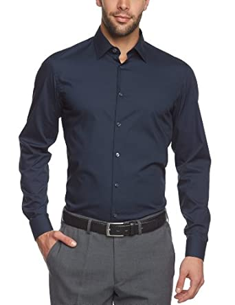 Arrow Herren Businesshemd Slim Fit 010041/19 Fifth Avenue NOS Kent modern 1/1 W98, Gr. 40, Blau (19)