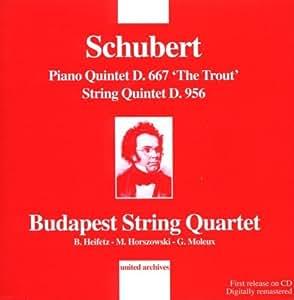 """Schubert : Quintets D.667 """"La Truite"""" et D.956"""