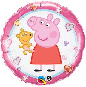 """Peppa Pig 18"""" Mylar Foil Teddy Balloon"""
