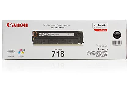 Canon I-Sensys MF 8330 cdn - Original Canon 2662B005 / 718BK - Cartouche de Toner Noir - Double Pack -