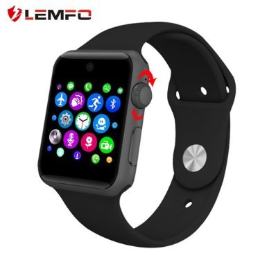 Lemfo LF07 Bluetooth SmartWatch 2.5D ARC HD(Black)