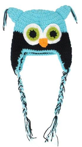 Niceeshop(Tm) Toddler Baby Girls Boys Owls Animal Crochet Knit Woolly Cap Hat front-939295